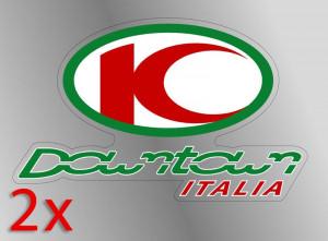 "Coppia di adesivi ""Kymco Downtown Italia"""