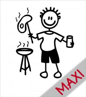 Papà con griglia - Maxi Adesivi Famiglia per Camper