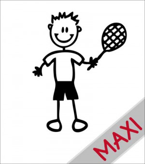 Papà tennista - Maxi Adesivi Famiglia per Camper