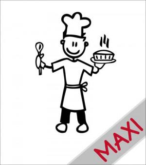 Papà chef - Maxi Adesivi Famiglia per Camper