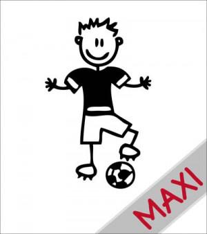 Papà calciatore - Maxi Adesivi Famiglia per Camper