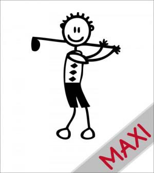 Papà con mazza da golf - Maxi Adesivi Famiglia per Camper