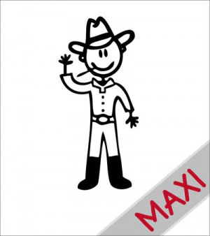 Papà cowboy - Maxi Adesivi Famiglia per Camper