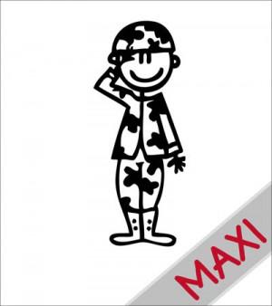 Papà soldato - Maxi Adesivi Famiglia per Camper
