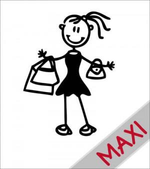 Mamma shopping - Maxi Adesivi Famiglia per camper