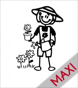 Mamma giardiniera - Maxi Adesivi Famiglia per camper