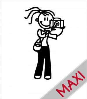 Mamma fotografa - Maxi Adesivi Famiglia per camper