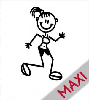 Mamma che corre - Maxi Adesivi Famiglia per camper