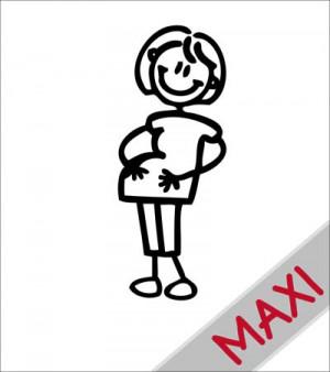 Mamma col pancione - Maxi Adesivi Famiglia per camper