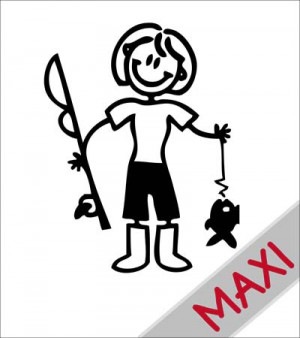 Mamma pescatrice - Maxi Adesivi Famiglia per camper