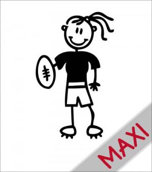 Mamma rugby - Maxi Adesivi Famiglia per camper