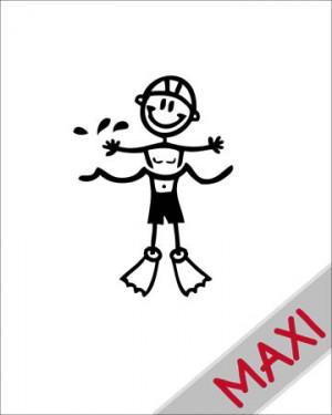 Bambino che nuota - Maxi Adesivi Famiglia per Camper