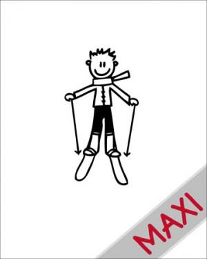 Bambino sugli sci - Maxi Adesivi Famiglia per Camper