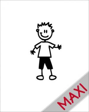 Bambino sportivo - Maxi Adesivi Famiglia per Camper
