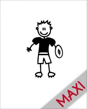 Bambino football - Maxi Adesivi Famiglia per Camper