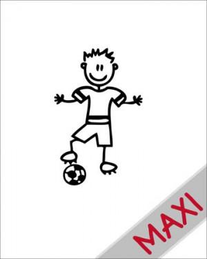 Bambino calciatore - Maxi Adesivi Famiglia per Camper