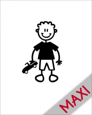 Bambino con automobilina - Maxi Adesivi Famiglia per Camper