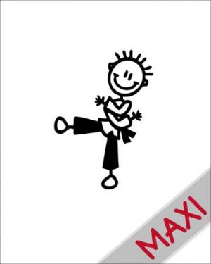 Bambino judo - Maxi Adesivi Famiglia per Camper