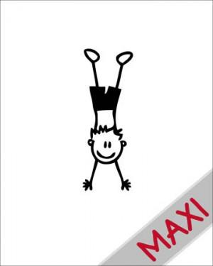 Bambino che fa la verticale - Maxi Adesivi Famiglia per Camper
