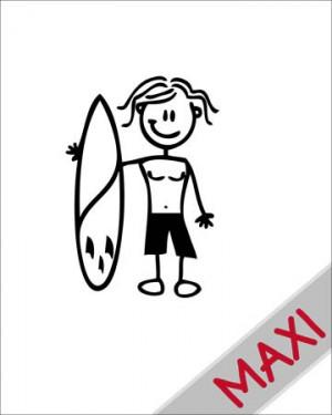 Bambino con surf - Maxi Adesivi Famiglia per Camper