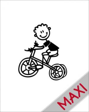 Bambino con triciclo - Maxi Adesivi Famiglia per Camper