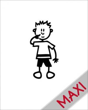 Bambino con dita nel naso - Maxi Adesivi Famiglia per Camper