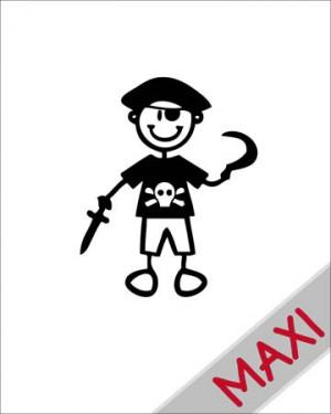Bambino pirata - Maxi Adesivi Famiglia per Camper
