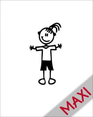 Bambina casual - Maxi Adesivi Famiglia per Camper