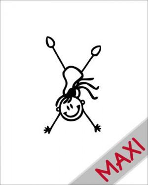 Bambina che fa la ruota - Maxi Adesivi Famiglia per Camper