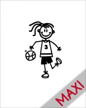 Bambina basket - Maxi Adesivi Famiglia per Camper