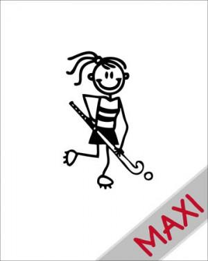 Bambina hockey - Maxi Adesivi Famiglia per Camper