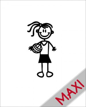 Bambina pallavolo - Maxi Adesivi Famiglia per Camper