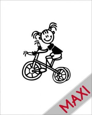 Bambina con triciclo - Maxi Adesivi Famiglia per Camper