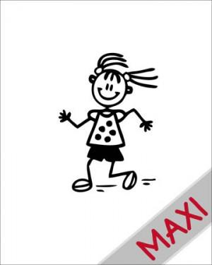 Bambina che corre - Maxi Adesivi Famiglia per Camper