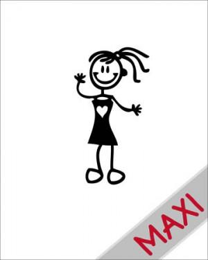 Bambina elegante - Maxi Adesivi Famiglia per Camper