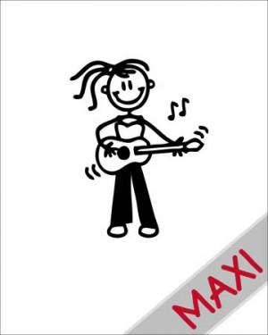 Bambina con chitarra - Maxi Adesivi Famiglia per Camper