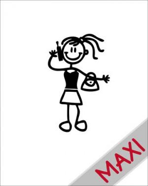 Bambina con telefonino - Maxi Adesivi Famiglia per Camper
