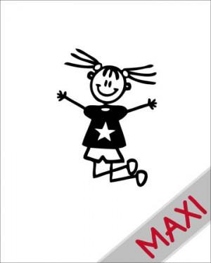 Bambina che salta - Maxi Adesivi Famiglia per Camper