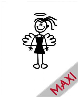 Bambina angioletto - Maxi Adesivi Famiglia per Camper