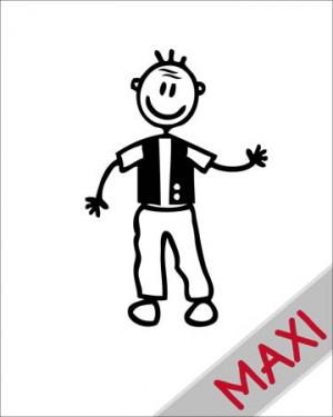 Nonno con gilet - Maxi Adesivi Famiglia per Camper