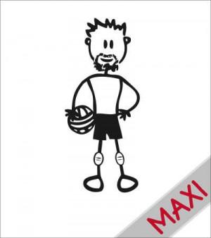 Papà pallavolista - Maxi Adesivi Famiglia per Camper