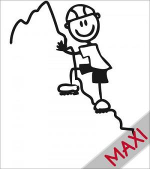 Papà scalatore - Maxi Adesivi Famiglia per Camper