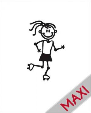 Bambina pattinatrice - Maxi Adesivi Famiglia per Camper