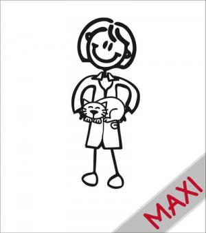 Mamma veterinaria - Maxi Adesivi Famiglia per camper