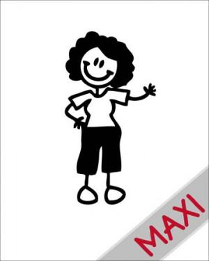 Nonna giovane - Maxi Adesivi Famiglia per Camper