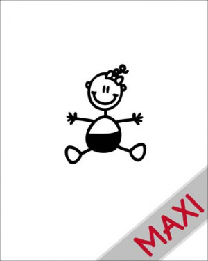 Neonata - Maxi Adesivi Famiglia per Camper