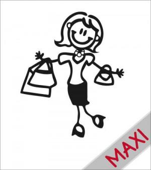 Mamma con la spesa - Maxi Adesivi Famiglia per camper