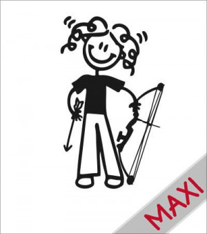 Mamma arciere - Maxi Adesivi Famiglia per camper