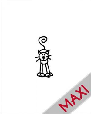 Gatto 2 - Maxi Adesivi Famiglia per Camper