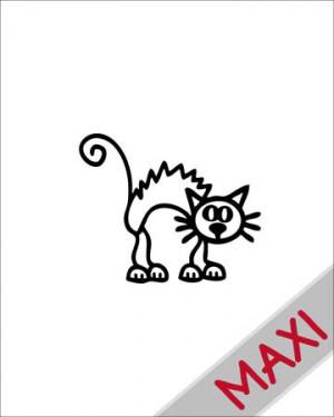 Gatto 3 - Maxi Adesivi Famiglia per Camper